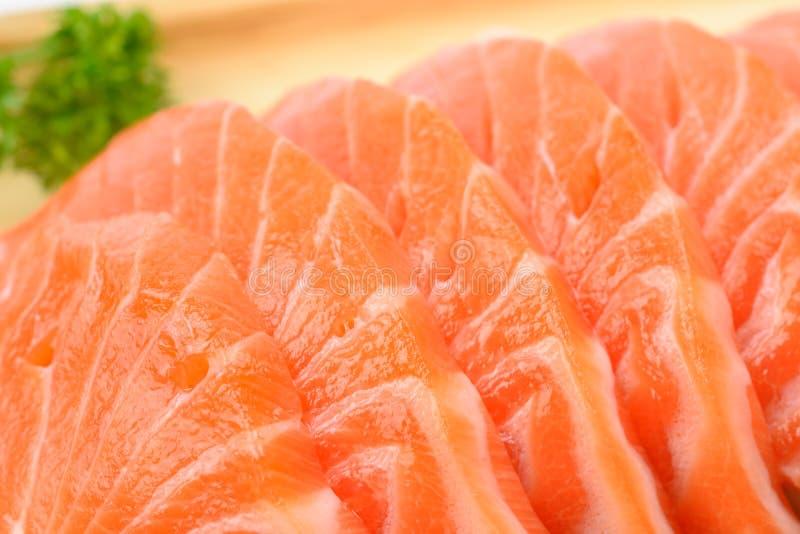 Sashimi del salmone del primo piano fotografia stock libera da diritti