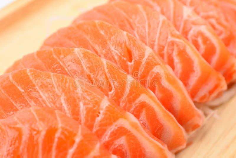 Sashimi del salmone del primo piano fotografia stock