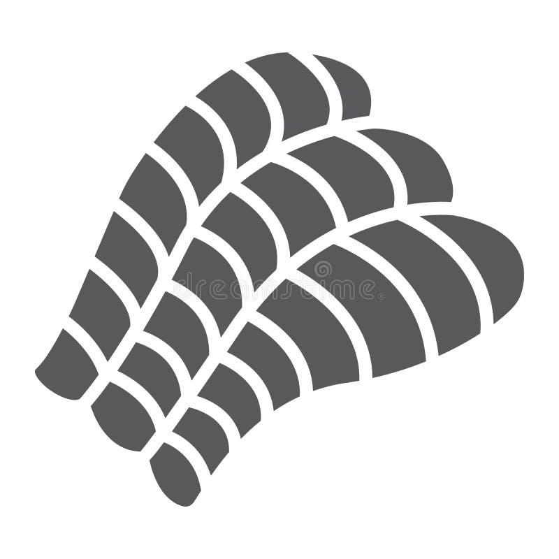 Sashimi glyph το εικονίδιο, Ασιάτης και τα τρόφιμα, σούσια υπογράφουν, διανυσματική γραφική παράσταση, ένα στερεό σχέδιο σε ένα ά διανυσματική απεικόνιση