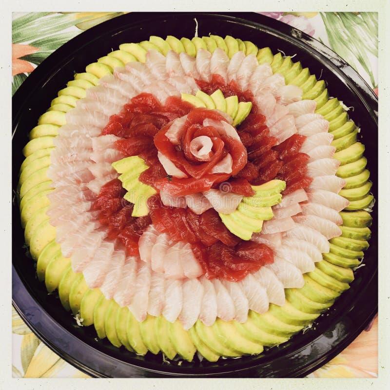 Sashimi i owoc zdjęcia royalty free