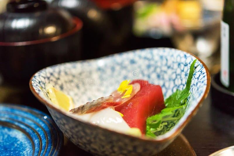 Sashimi - Japanese dish, Tokyo, Japan. Close-up. royalty free stock images