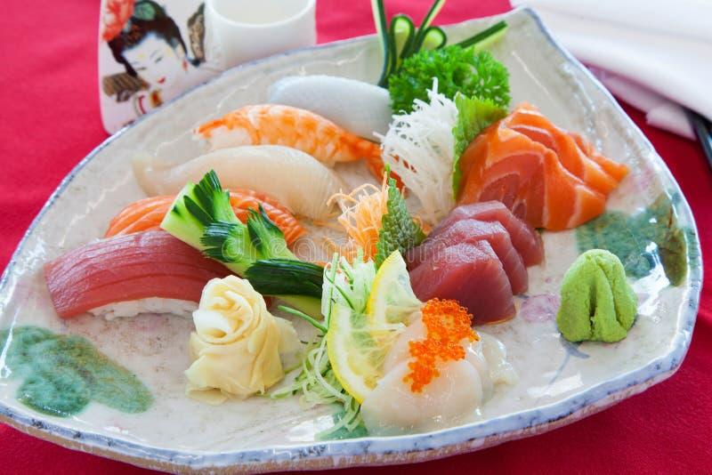 Sashimi misto immagine stock