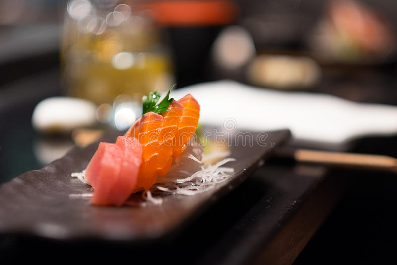 Sashimi plate royalty free stock image