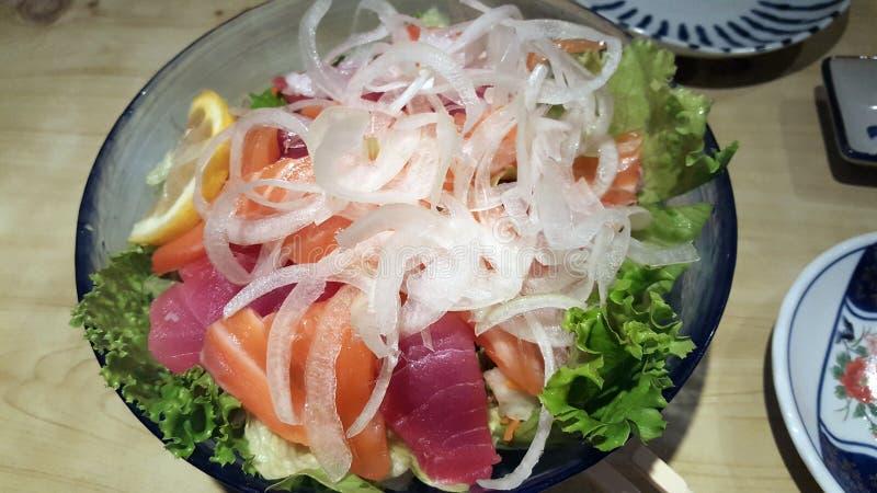 Sashimi Salad stock photos