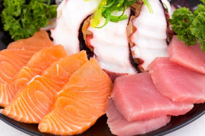 Sashimi set. Close up Japanese food sashimi set royalty free stock photo