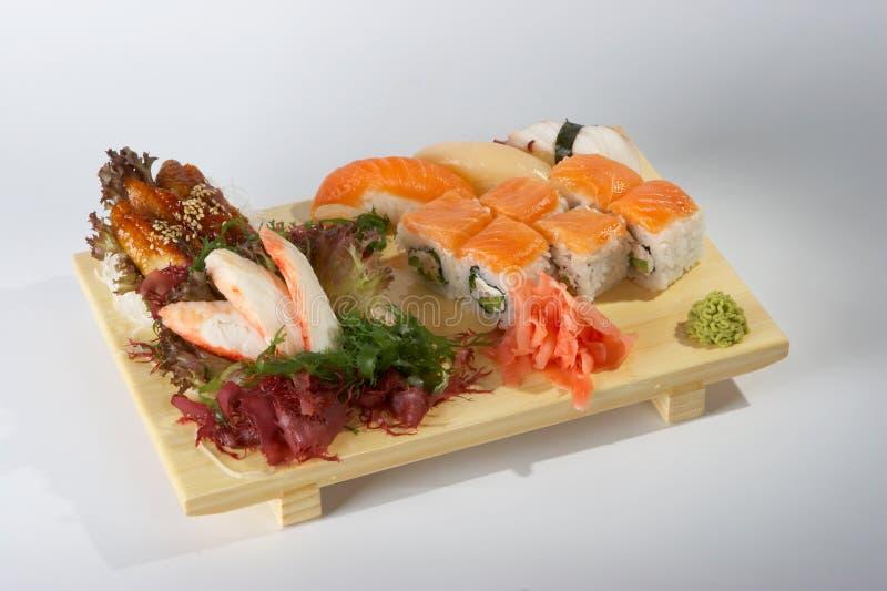 Sashimi And Sushi Rolls Stock Photo