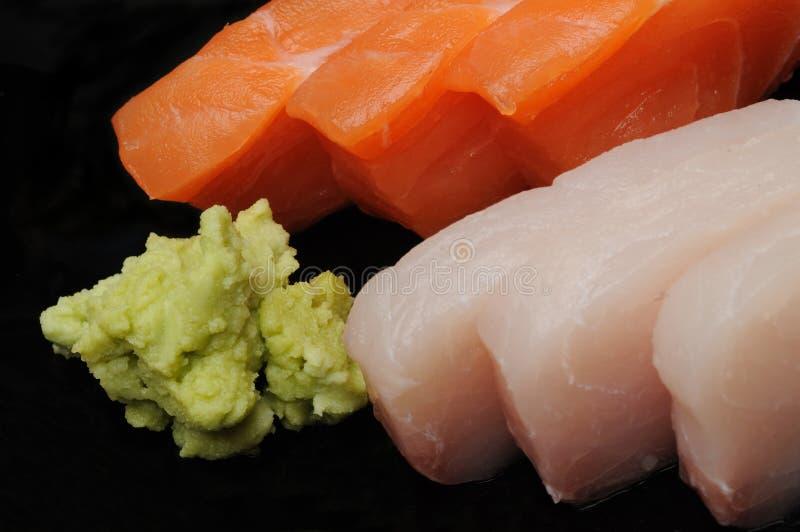 Sashimi u. Wasabi stockfoto