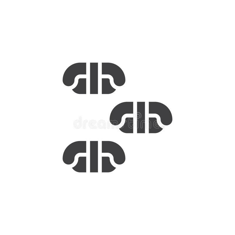 Sashimi vector icon. Filled flat sign for mobile concept and web design. Sushi asian food glyph icon. Symbol, logo illustration. Pixel perfect vector graphics stock illustration