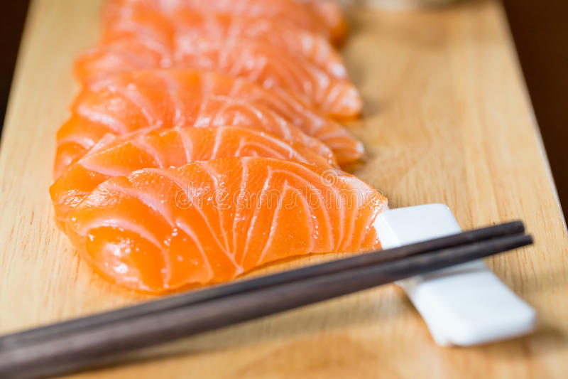 Sashimi, Zalm, Japans voedsel royalty-vrije stock foto's