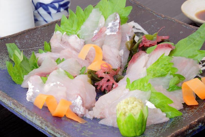 Sashimifliegender fisch, japanisches Lebensmittel lizenzfreie stockbilder