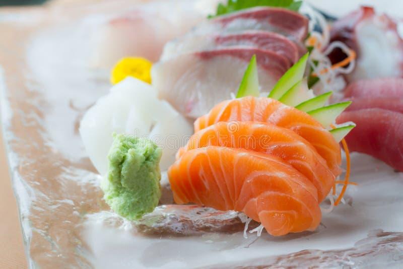 Sashimimaträtt royaltyfri bild