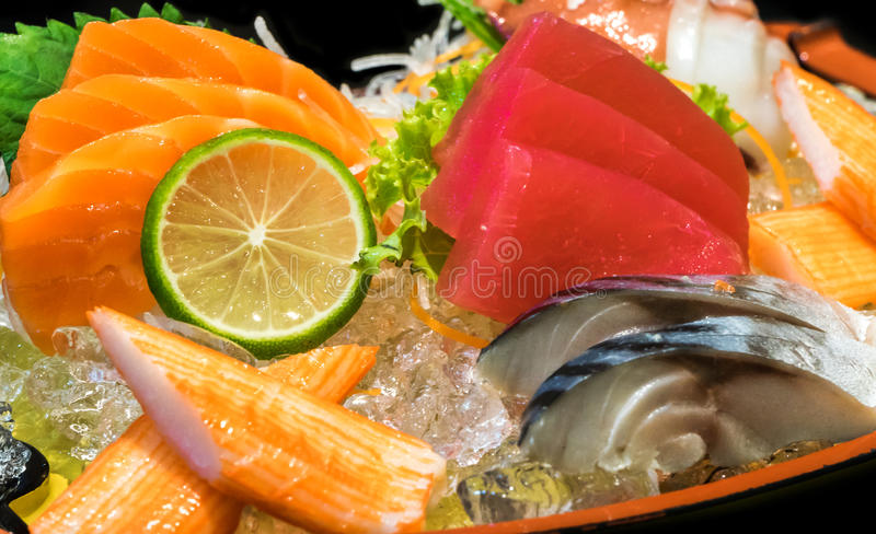 Sashimimeeresfrüchte lizenzfreie stockfotografie