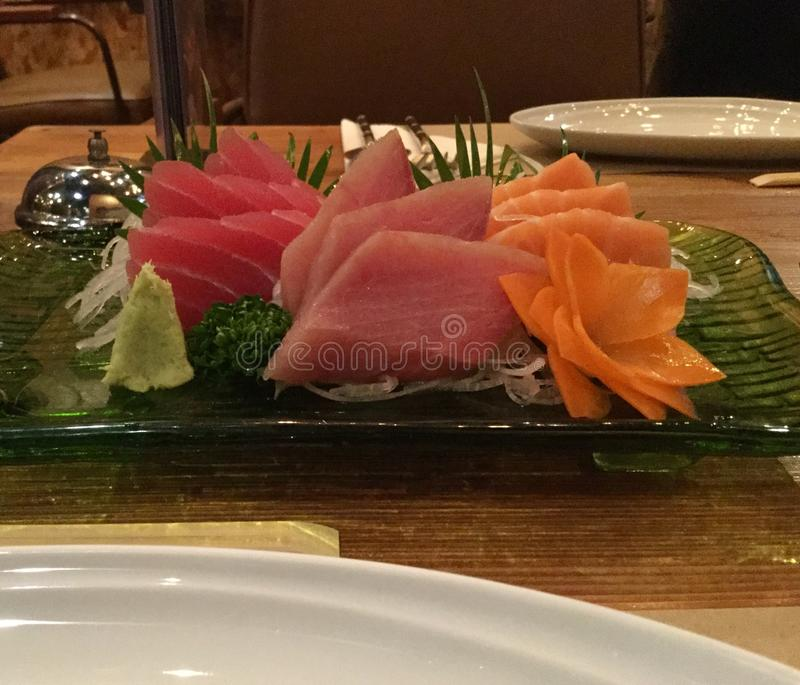 Sashimiplaat royalty-vrije stock afbeelding