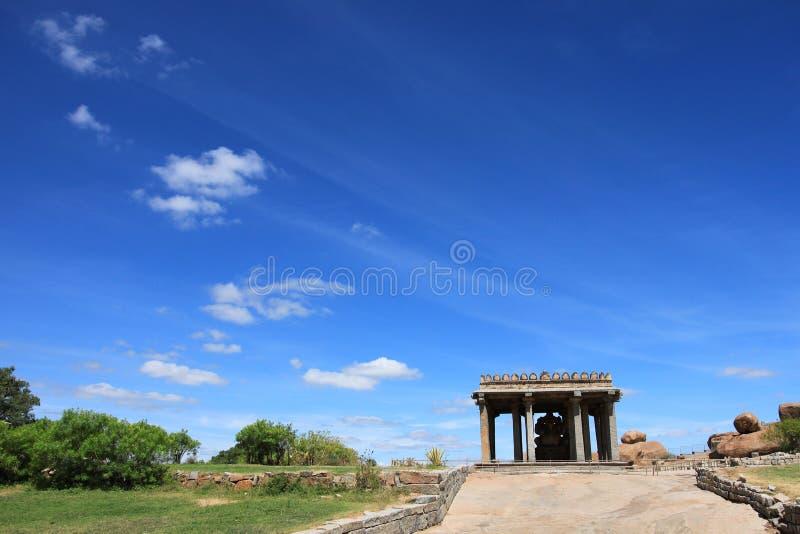 Sasivakalu Ganesha寺庙,亨比 免版税图库摄影