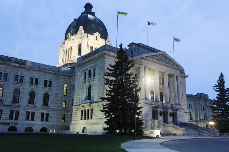 Saskatchewan lagstiftnings- byggnad arkivfoto