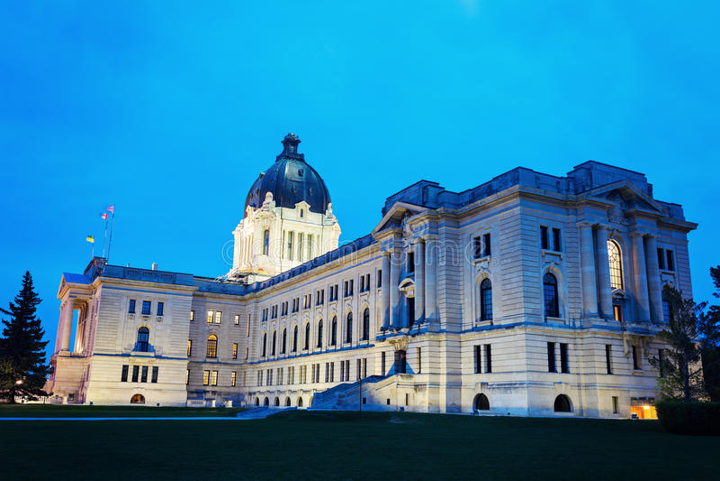 Saskatchewan lagstiftnings- byggnad arkivfoton
