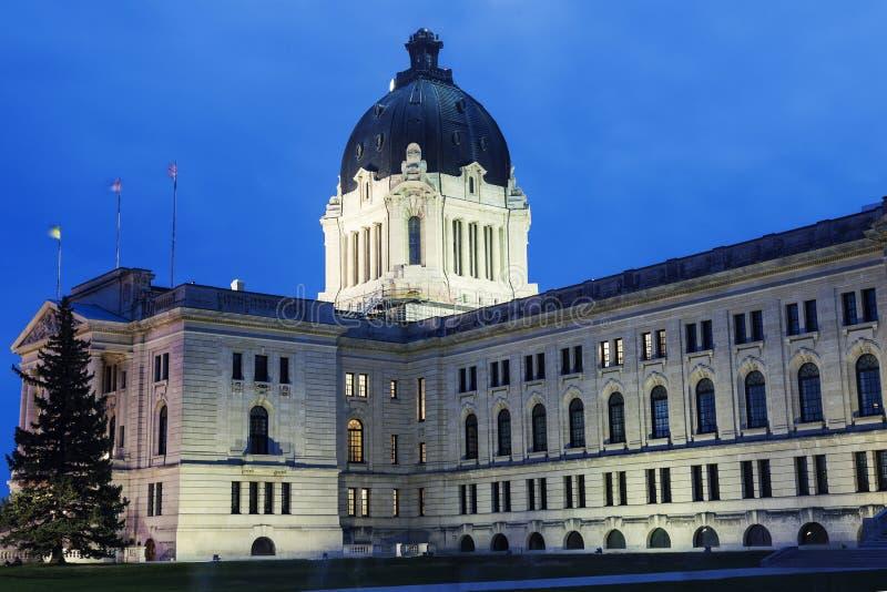 Saskatchewan lagstiftnings- byggnad i Regina royaltyfri fotografi