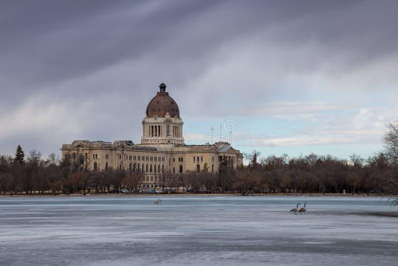 Saskatchewan lagstiftnings- byggnad i Regina royaltyfri foto