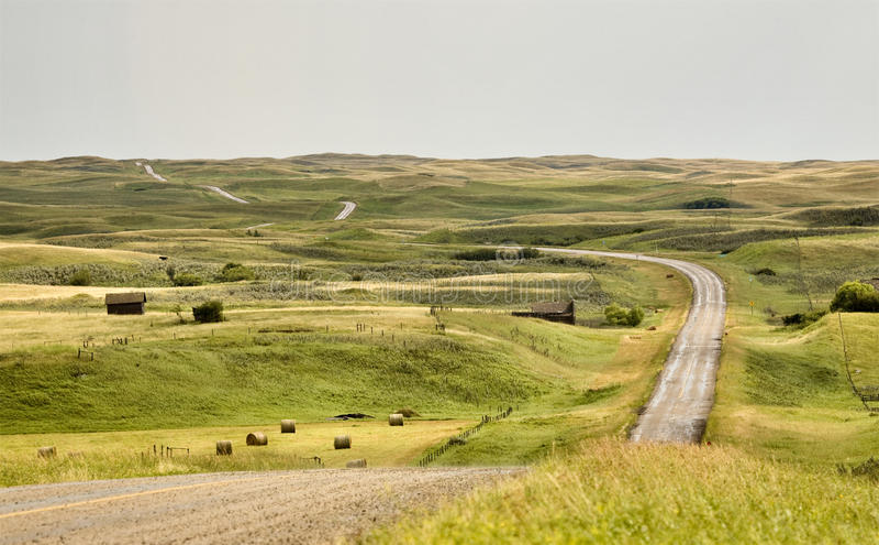 Saskatchewan rurale photographie stock libre de droits