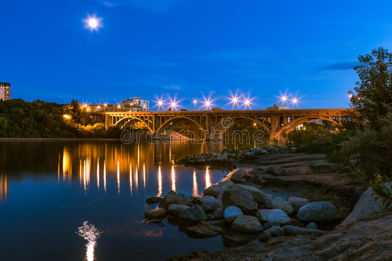 Saskatoon Broadway Bridge royalty free stock photo