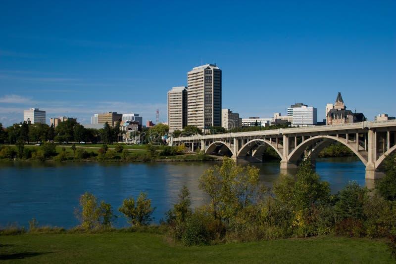 Saskatoon céntrica imagen de archivo libre de regalías