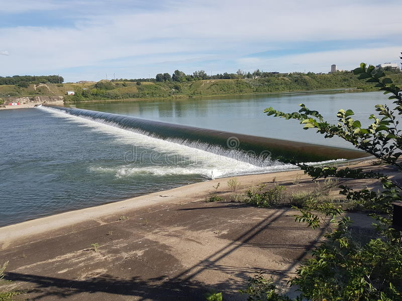 Saskatoon dammbyggnad fotografering för bildbyråer