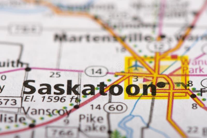 Saskatoon Saskatchewan On Map Stock Photo Image of political