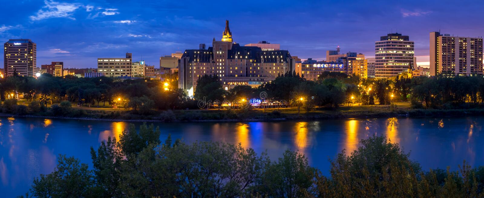 Saskatoon skyline royalty free stock photos