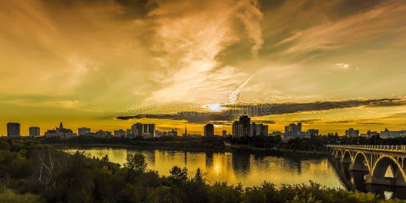 Saskatoon Skyline stock image