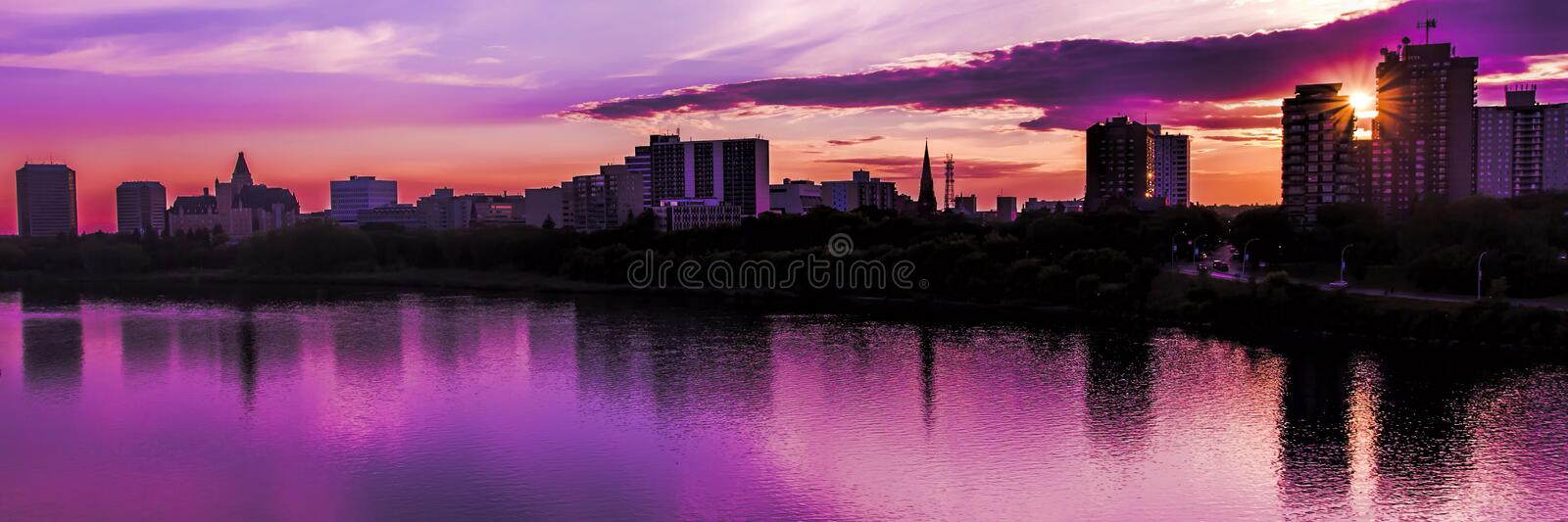 Saskatoon Skyline royalty free stock images