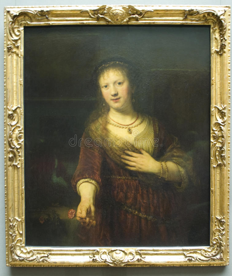 Download Saskia Van Uylenburgh By Rembrandt Van Rijn Editorial Photography - Image: 15864777