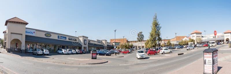 Sasolburg购物中心,在Sasolburg在自由州省 库存图片