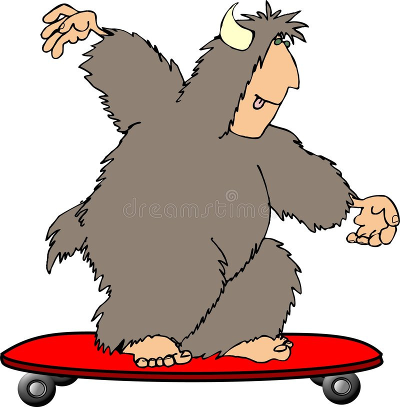 Sasquatch 8 stock illustration
