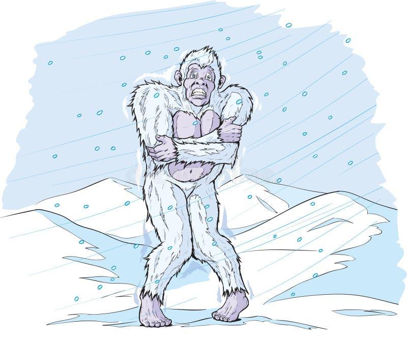 Sasquatch freddo illustrazione vettoriale