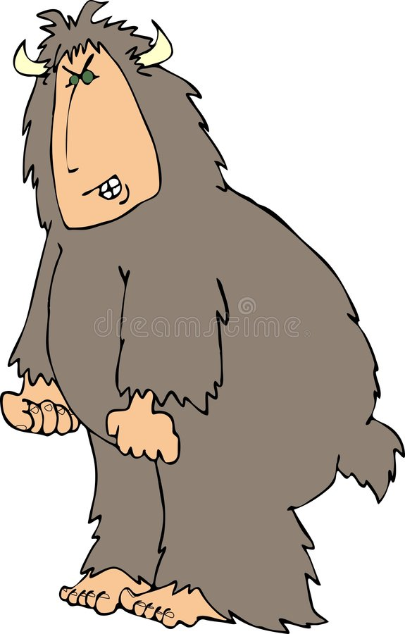 Sasquatch irritado ilustração stock