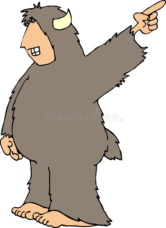 Download Sasquatch10 stock illustratie. Illustratie bestaande uit grappig - 38719