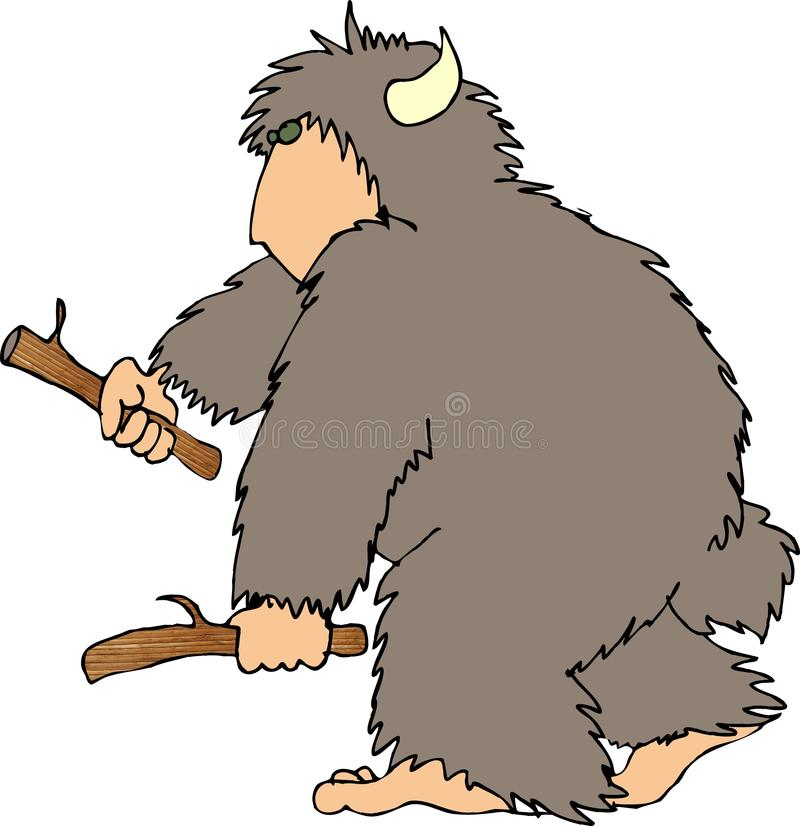 Download Sasquatch2 stock photo. Image of furry, cartoon, beast, funny - 34298