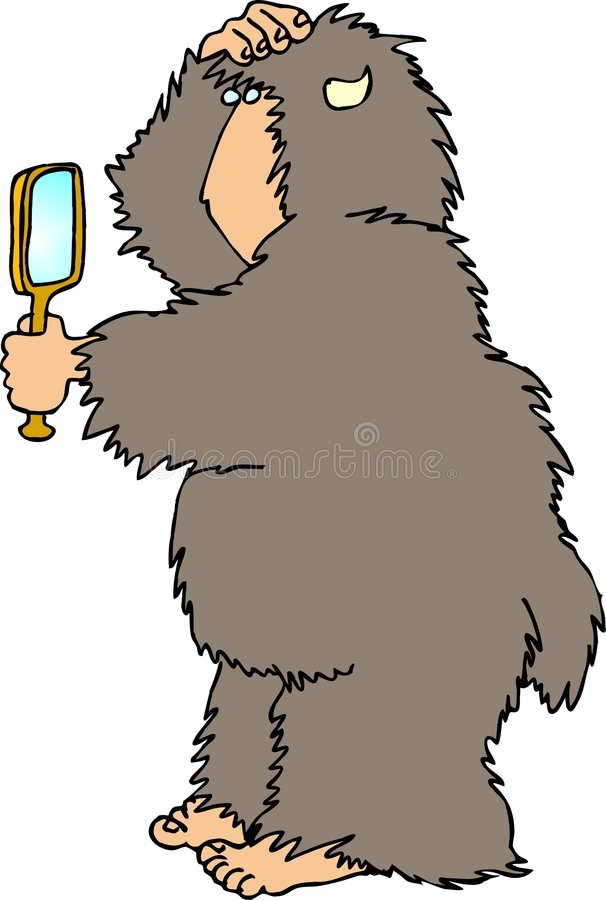 Sasquatch4 illustration stock