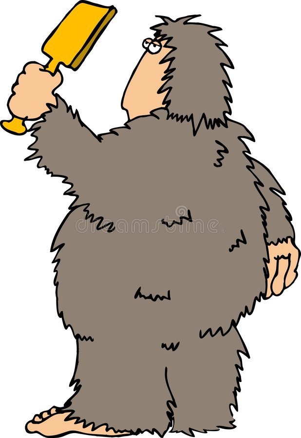 Download Sasquatch5 stock illustrationer. Illustration av angus, gyckel - 34301