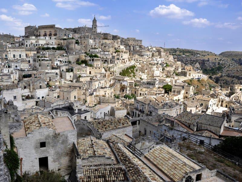 Sassi av Matera - Italien fotografering för bildbyråer