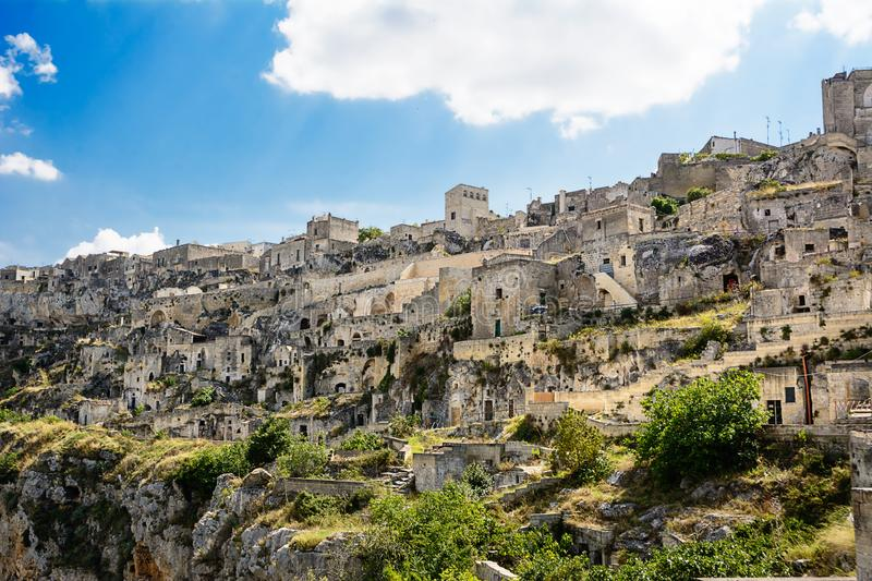Sassi di Matera: houses carved into the rock. Sassi di Matera: some houses carved into the rock royalty free stock photography