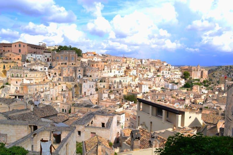 Sassi di Matera, Italië stock afbeelding