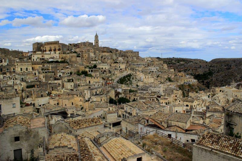 Sassi di Matera Italien, europeisk huvudstad av kultur 2019 arkivfoto