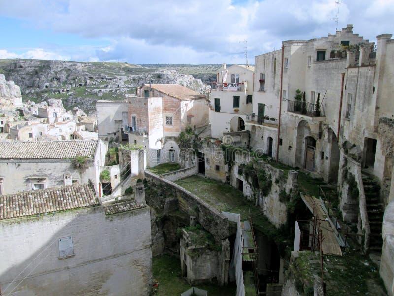 Sassi di Matera, Italien Süd stockfotos