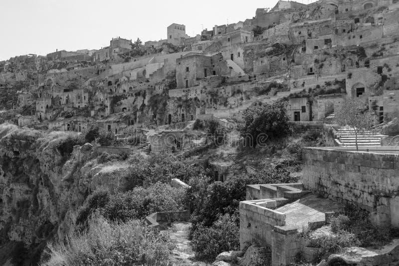 Sassi di Matera, vieille maison de caverne dans la ville antique italienne de caverne image libre de droits