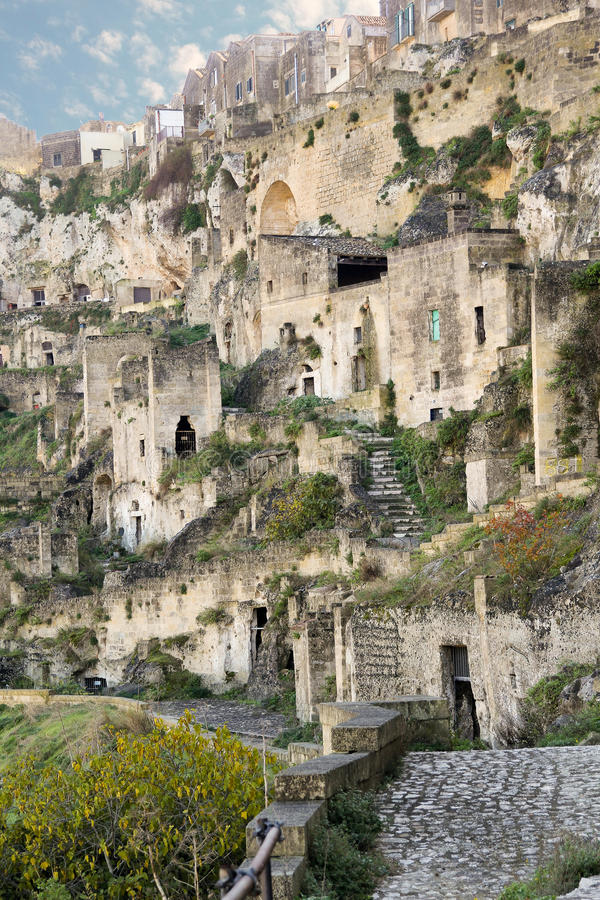 Sassi i Matera, Italien royaltyfri fotografi