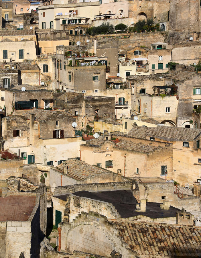 Sassi in Matera stock image