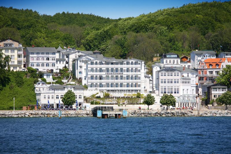 Sassnitz, old part of town with its historic architecture royalty free stock photo
