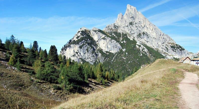 Sasso di Stria peak stock image