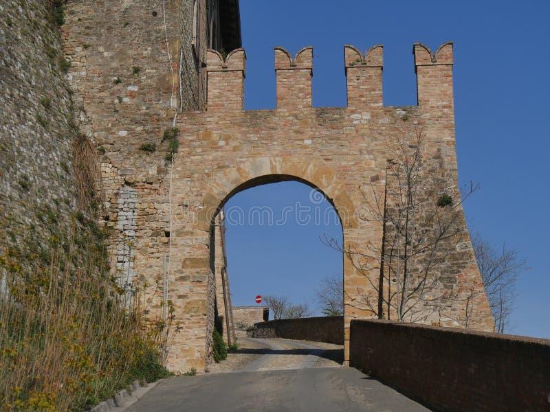 Sasso Gate in Castell`Arquato. royalty free stock photos
